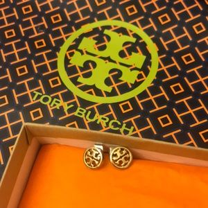 VGUC Tory Burch Logo Stud Earrings